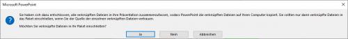 verknüpfte Dateien werden auch gespeichert