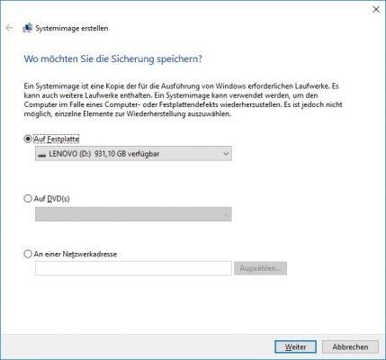 Daten sichern Windows