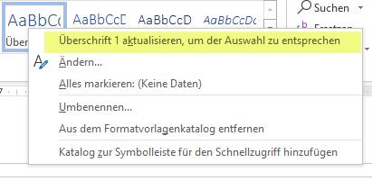 Überschriften automatisch nummerieren