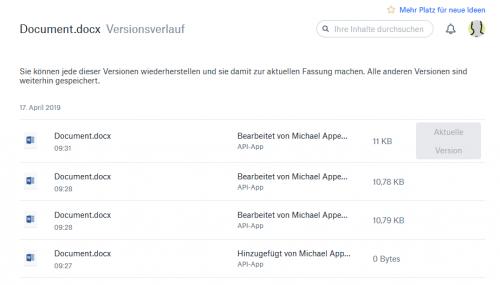 Dropbox Vorherige Version wiederherstellen
