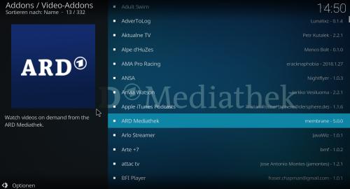 KODI Add-ons für Videoquellen