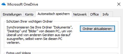 Ordnerschutz in OneDrive