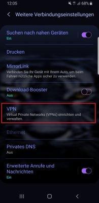 Android VPN einrichten