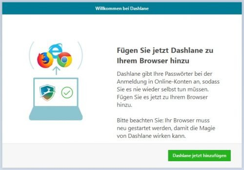 Dashlane Browser AddOn