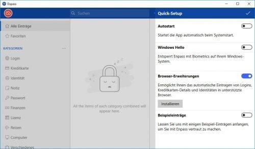Enpass Passwörter verwalten: Quick Setup