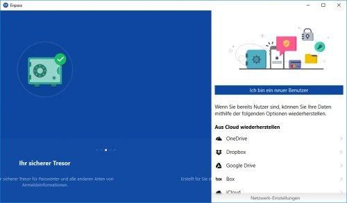 Enpass Windows 10 deutsch Neuer Benutzer