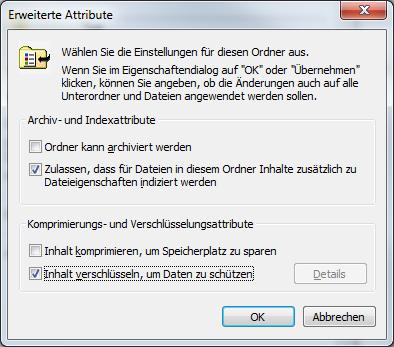 Erweiterte Attribute von Dateien und Ordnern