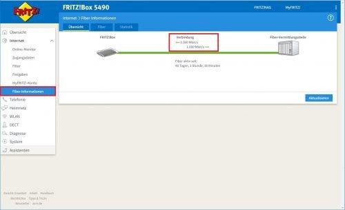 Fritz!Box DSL Informationen