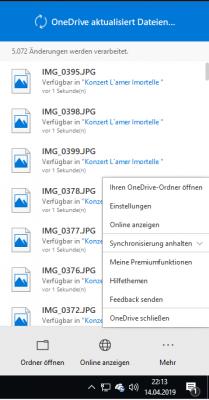 OneDrive synchronisiert
