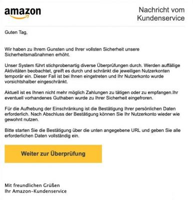 Amazon Spoofing Email