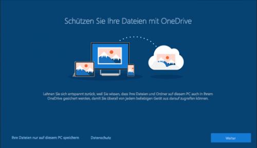 OneDrive als Standardspeicherort