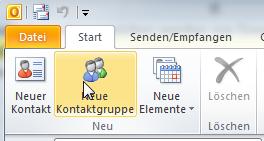 Über eine Kontaktgruppe können Outlook-Verteiler anlegen