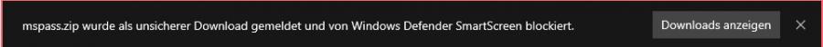 SmartScreen blockiert gefährliche Programme