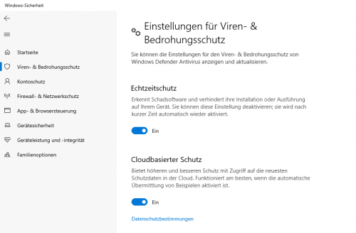 Windows Defender abschalten