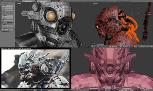 3D-Modell in Blender