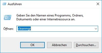 Windows Datenträgerbereinigung