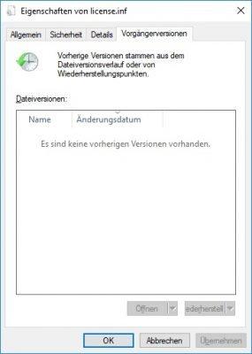 Datei Vorgängerversion Tipps