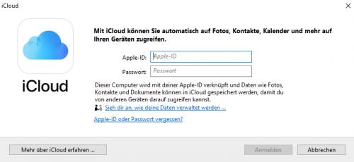 Anmeldung mit der Apple-ID ist erforderlich
