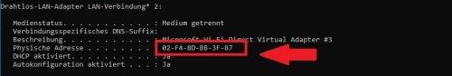 MAC-Adresse Aufbau Erklärung