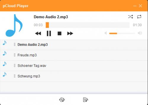 pCloud Player spielt Video- und Musikdateien in den gängigsten Formaten direkt im Browser ab