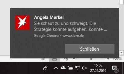 Push-Nachricht unter Windows 10