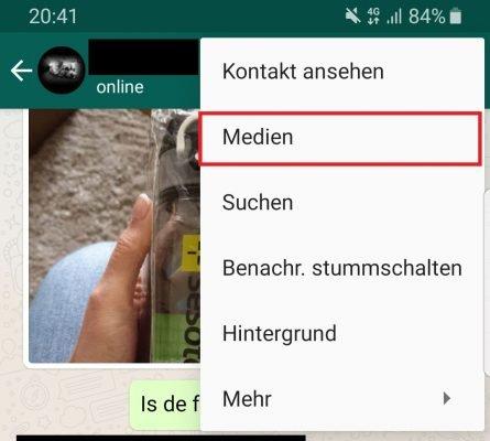WhatsApp Medien Speicherplatz