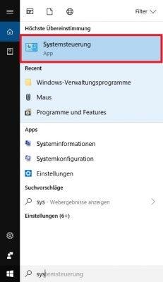 Windows 10 Systemsteuerung öffnen cmd