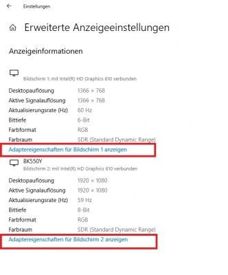 Windows 10 Adaptereigenschaften