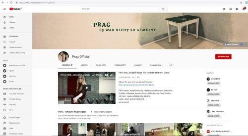 YouTube Künstlerkanal