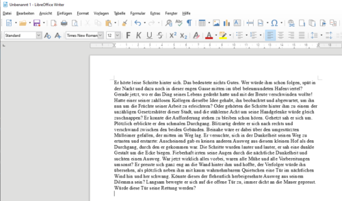 Blindtext in LibreOffice Writer