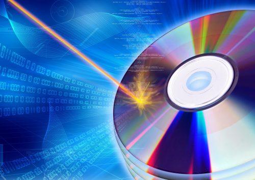 Laser brennt Daten auf CD