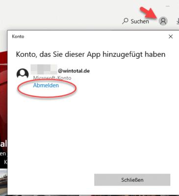 Microsoft-Konto abmelden