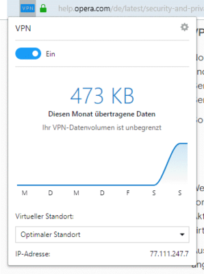 VPN in Opera
