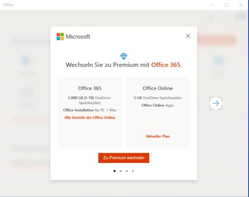 Werbung für Office 365