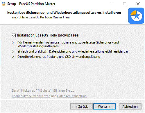 Partition Master will weitere Software installieren