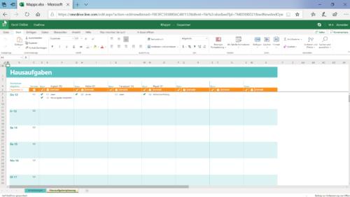Microsoft Office kostenlos, hier Excel