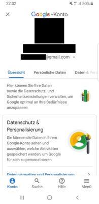 Keine Android-Einstellungen ohne Anmeldung
