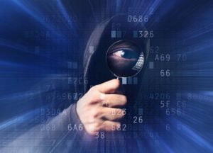 Hacker mit Spyglas