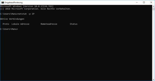Windows 10 TCPIP Verbindungen