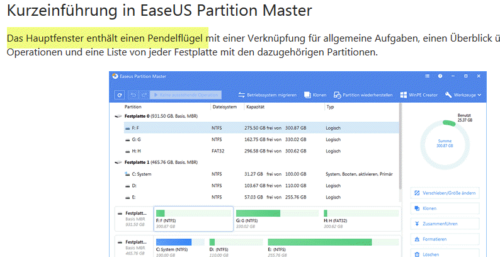 EaseUS Partition Master Onlinehandbuch