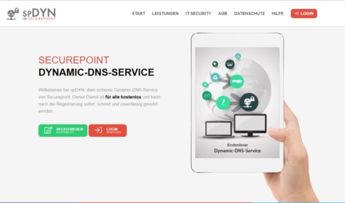 Securepoint Dynamic DNS kostenlos