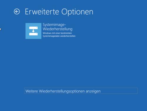 Systemimage-Wiederherstellung in Windows 10