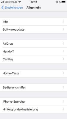 AidrDrop auf dem iPhone aktivieren