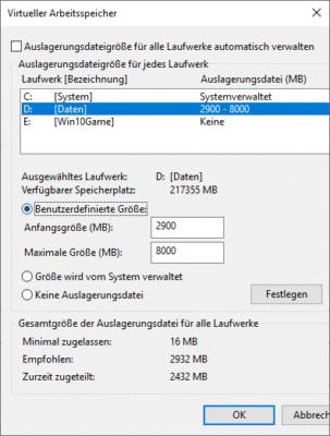 Sie können die Größe der Auslagerungsdatei in Windows 10 anpassen.