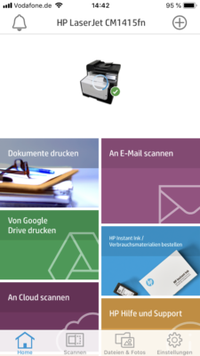 HP Drucker App