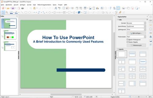 Impress als kostenloses PowerPoint