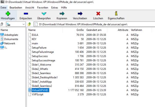 In der Datei xpm findet sich das Windows XP Image