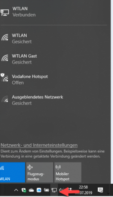 WLAN im Systemtray