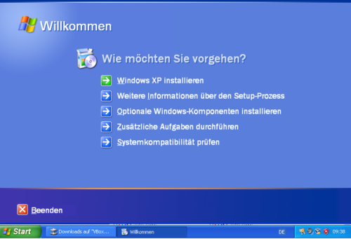 Windows XP neu installieren