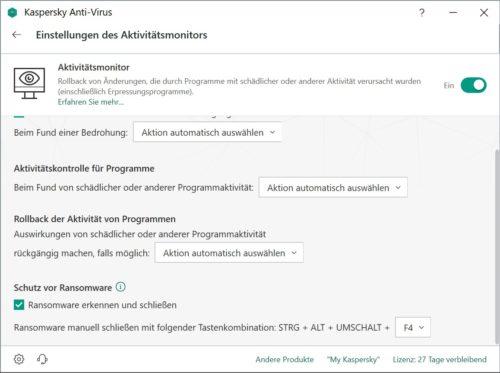Der Aktivitätsmonitor überwacht Prozesse in Windows